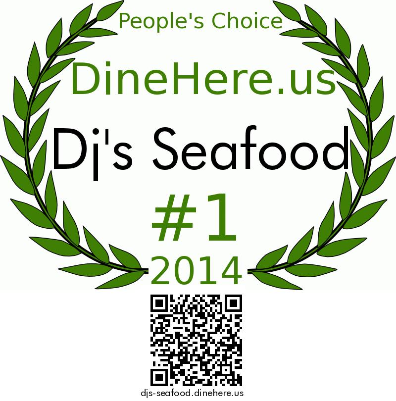 Dj's Seafood DineHere.us 2014 Award Winner